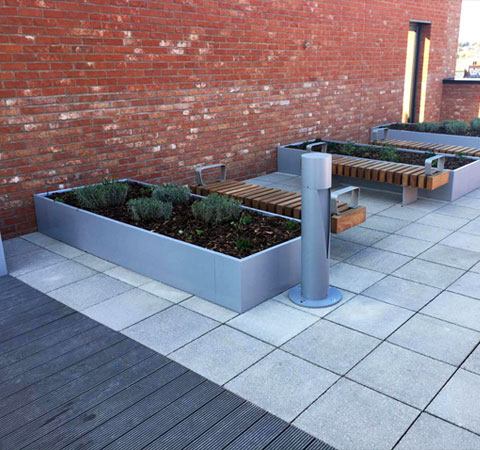 urban street designs - steel and timber work case study image
